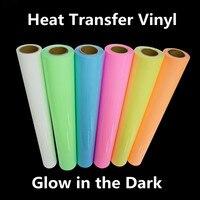 Glow In The Dark IRON ON Heat Transfer Vinyl For Cloth 20 X78 74 50cm X