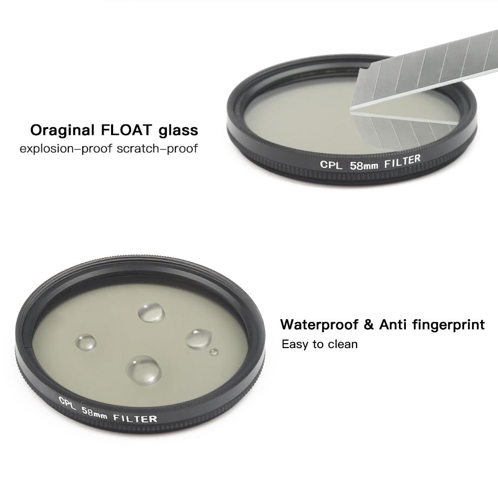 SHOOT 58mm Filtro UV para GoPro Hero 6 5 7 Negro Cubierta de la lente - Cámara y foto - foto 2