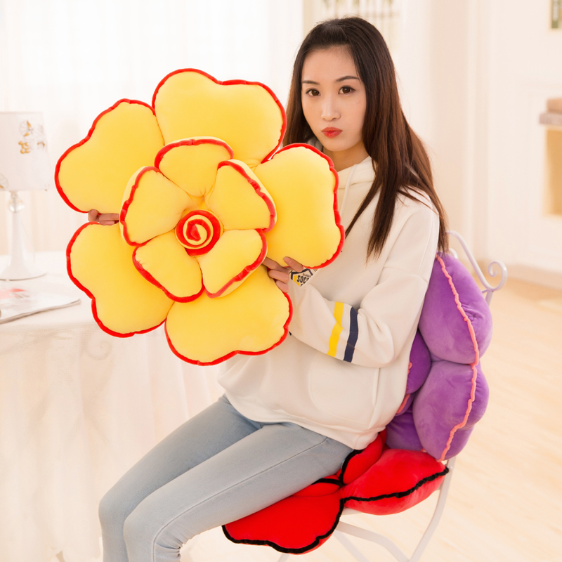 Creative cushions Rose pillow Plush Flowers lovely bedside sleep use pillow Sofa backrest Car lumbar support cushion Love gift in Cushion from Home Garden