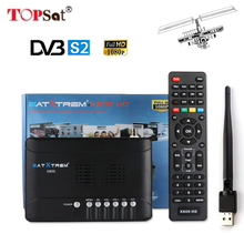 DVB S2 MPEG4 Satellite Receiver Receptor HD TV Tuner DVB S2 Support CLINES PowerVu bisskey WiFi