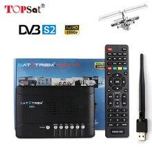 DVB-S2 MPEG4 Satellite Receiver Receptor HD TV Tuner DVB-S2 Support CLINES PowerVu bisskey WiFi AC3 batter than V7 HD S2020