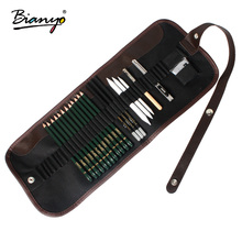 Bianyo 22Pcs Charcoal Earser Knife Drawing Pencil Sketch Painting Canvas Pencil Bag Set Christmas Gift for Kid