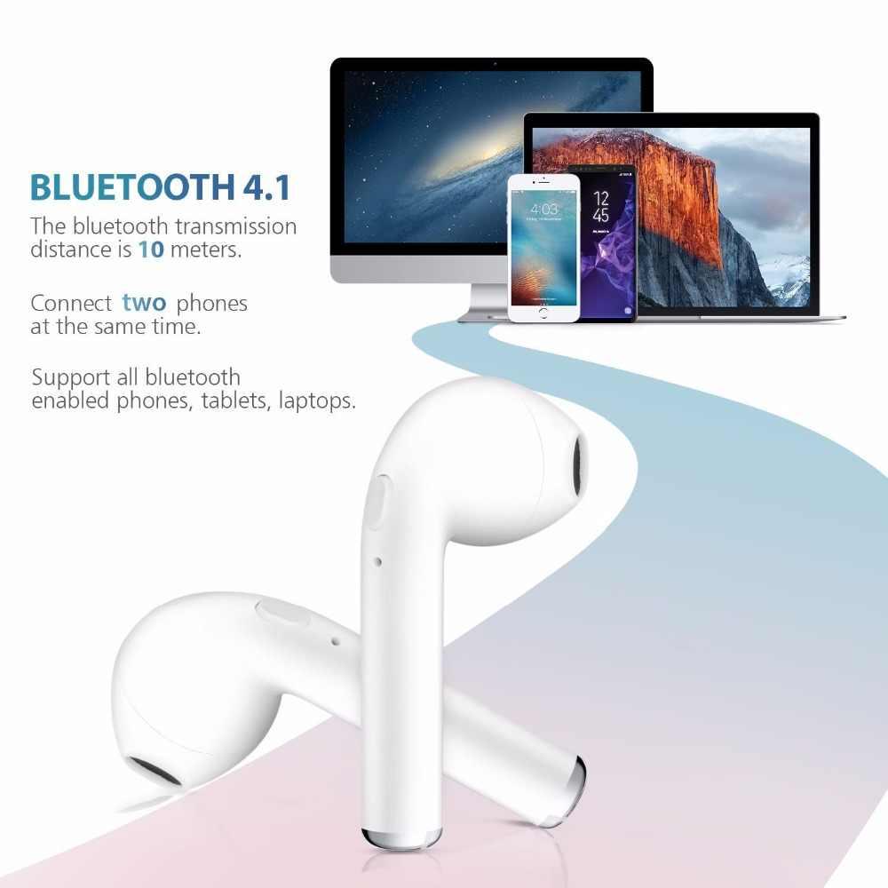 I7 Twins TWS Bluetooth стерео наушники для телефона беспроводные наушники для iPhone X ix 6 7 8 plus 7plus Galaxy S8 plus Android