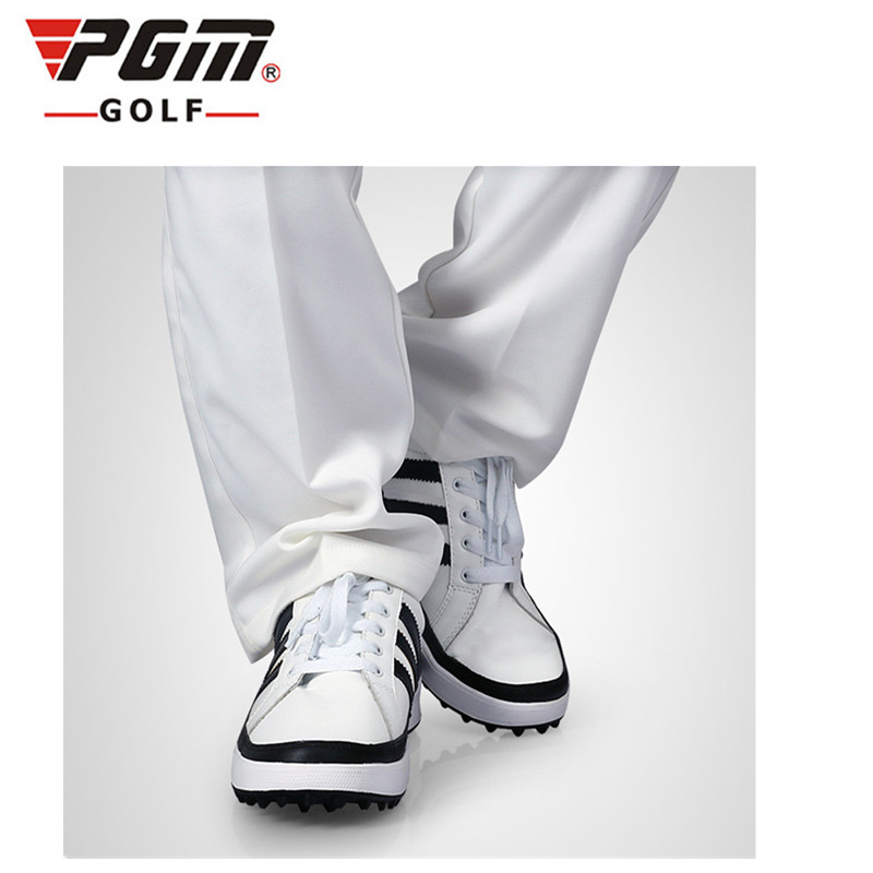2017 PGM Authentic Golf Shoes Men Genuine Leather Waterproof No Spikes Recreational Ultralight Dual Fate Will Wear Sneakers