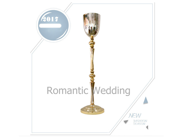 Free shipment 6PCS/lots Retro Gold flower stand pillar vase lead road for Wedding decorations&event products&party decoration