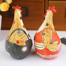 European Style Wedding Gifts Resin Chicken Couples 2 Pcs / Lot Animal Figures Cabochon Home Decoration Crafts