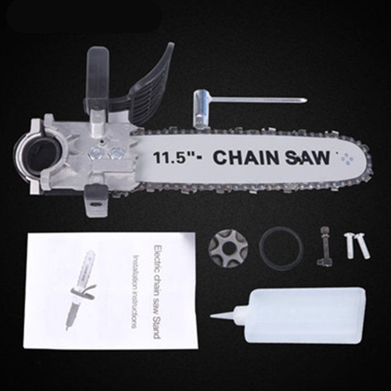 angle grinder polishing machine conversion electric chain saw blade bracket multifunctional modified universal logging saw