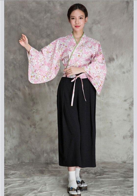 Veste de Chef de cuisine japonaise, vêtements de Chef uniforme pour Sushi vêtements de Chef pour femmes ensemble de kimono japonais