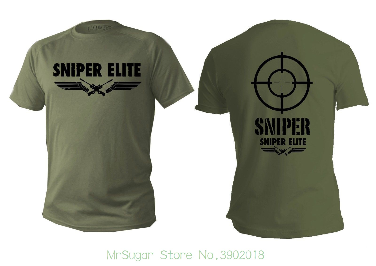 T Shirt Mens Dry Fit Short Sleeve Green Olive Sniper Army Military Snipers Army Mens T Shirts 2018 Fashion