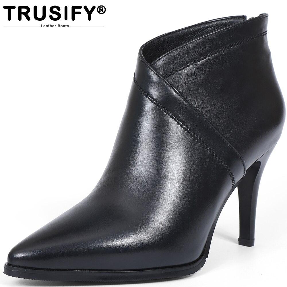 TRUSIFY 2018 Ohbutton woman platform wedge heel boots