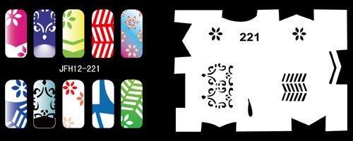 1 set - Nail Airbrush Stencils - Set No.12 - Nail Stencils / Templates - Nail Art / Printing -20pcs stencils/set- Free Shipping