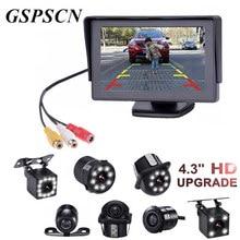 GSPSCN 2 in1 TFT DA 4.3 Pollice Auto TFT LCD Rearview Parcheggio Monitor + LED Night Vision CCD Rear View Camera di Backup Con Monitor Auto