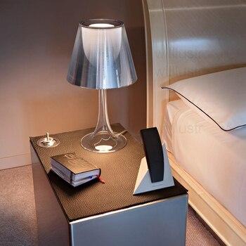 Moderno Lâmpada De Mesa Transparente Multi Cores Luz Da Mesa Sala Estar Quarto Iluminação Mesa Luz Leitura Luzes Cabeceira