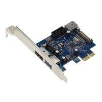 External USB3.0 Port Power eSATA Port Internal USB 3.0 9pin USB Header PCIe Card With 15pin SATA Power Socket (NEC / Renesas uP