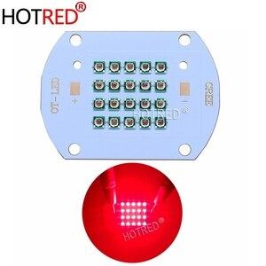 Image 1 - 50 ワット 60 ワットハイパワー LED チップ 660nm ディープ赤色 Led 成長ライト 660 nm Cob ダイオードエミッタ + ドライバ + ヒートシンク + クーラー + レンズリフレクター