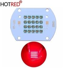 50 W 60 W High Power LED Chip 660nm Diep Rode LED Licht Groeien 660 nm COB Diode Emitter + driver + heatsink + cooler + lens reflector