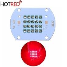 Chip LED de alta potencia de 50W y 60W, 660nm, luz LED roja profunda de cultivo, 660 nm, emisor de diodo COB, controlador, disipador térmico, enfriador y reflector de lente