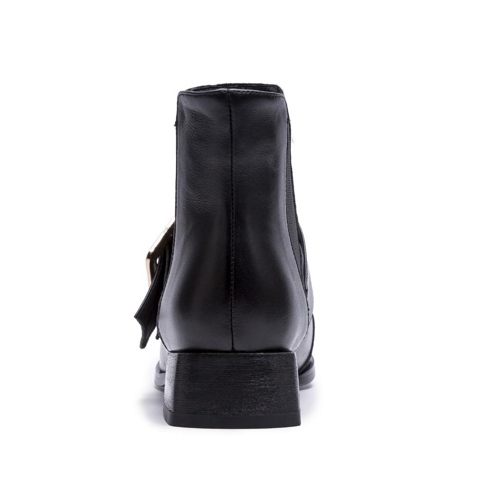Sur Mode Élastique De Matin Black Talons Leather black Arden Furtado Carrés Boucle Printemps Cheville Suede Chaussures Bottes 2018 Les Femmes Automne Hiver Glissement Bootie qwzFwZxU