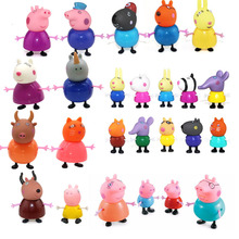 Original Fashion Styles Peppa pig Family George Action Figure Various  25pcs Doll Model for Kid To