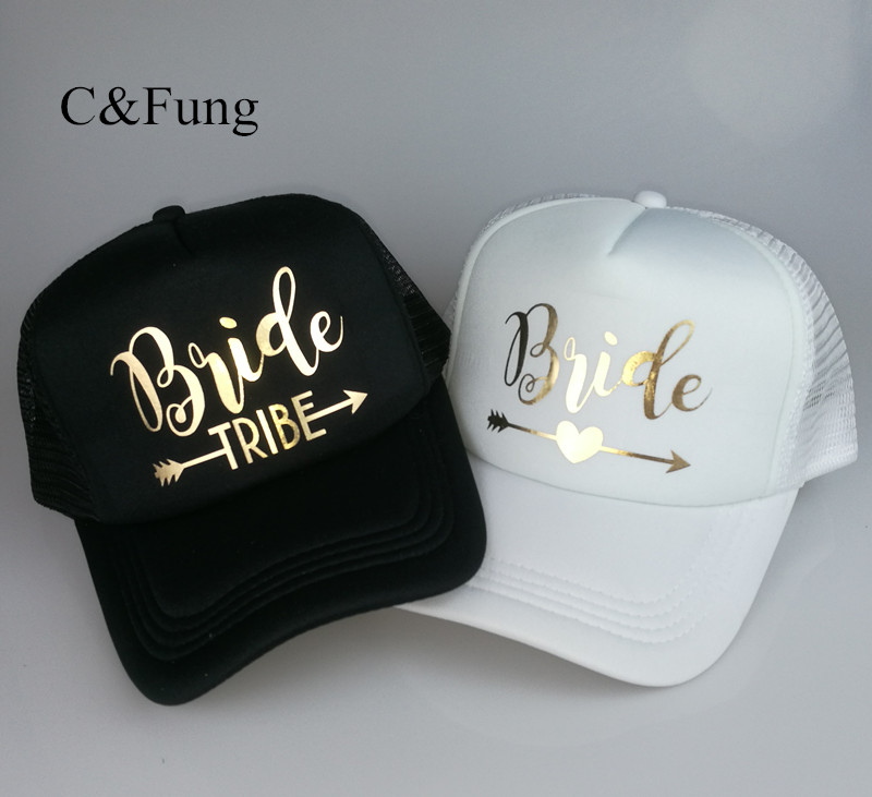 C Fung® Bride Tribe Bachelorette Hen Trucker Hat Cap Team Bride Gold ... 3c0be4987c4b