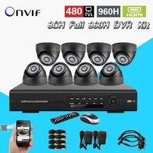 TEATE 8CH Completa 960 H gravação H.264 Kit DVR 8CH Completo CCTV DVR standalone recorder 8 pcs 480TVL câmeras de visão noturna IR CK-075