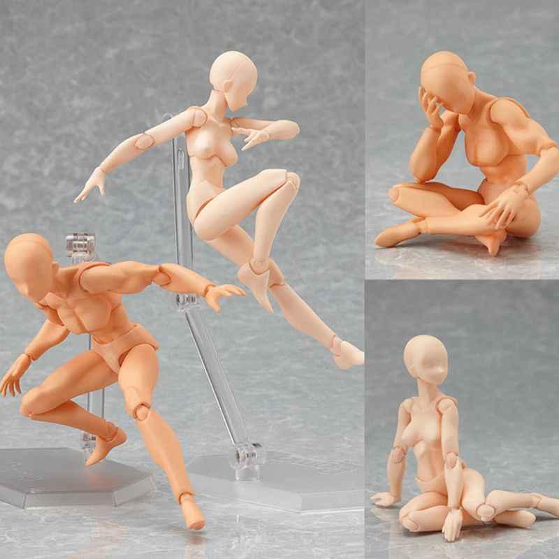 Anime Figma Movable Arquétipo Ele Ela Ferrite Feminino Corpo Chan Kun Ação PVC Toy Figura Collectible Figurine Modelo crianças brinquedos