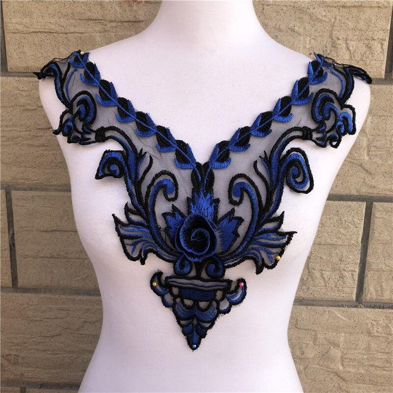 1 шт., 7 цветов, венецианская кружевная ткань, аппликация для платья, мотив, блузка, вышивка, аксессуары для украшения костюма