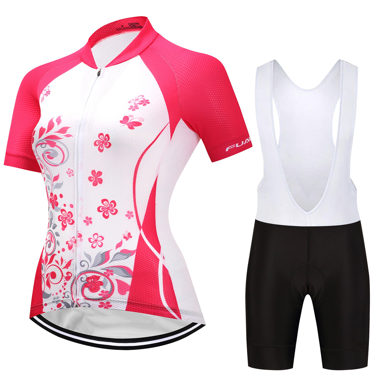 FUALRNY Summer Women Cycling Jersey Sets Short Breathable Cycling Clothing Mountain Bike Clothes Sport Wear Uniforms triathlon fitness women sports wear shorts kit sets cycling jersey mountain bike clothing for spring jersey padded short page 4
