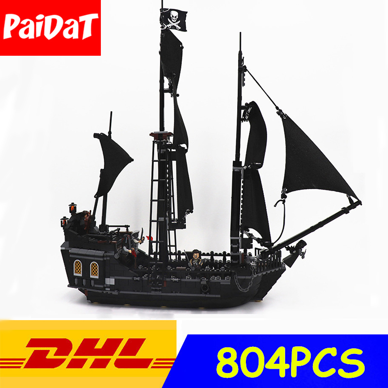 Paidat Building Blocks 16006 Pirates of the Caribbean Black Pearl Ship Compatible Legoing 4184 blocks Toys For Children gift lepin 16006 804pcs building bricks blocks pirates of the caribbean the black pearl ship legoing 4184 toys for children gift