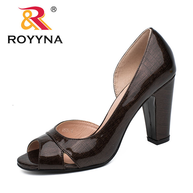 ROYYNA New Style Women Pumps Shallow Women Shoes High Heels Lady Wedding  Shoes Comfortable Light Size 5.5-8.5 Free Shipping 64e91a62d2d5