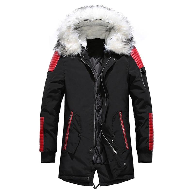 Aolamegs Fur Collar Winter Jacket Men Patchwork Thick Hooded Down Jacket Men Parkas Fashion Windproof Coat Mens Streetwear (17)