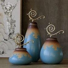 New Design Color Glaze Decorative Porcelain Ceramic Vase Jar With Br Lid China