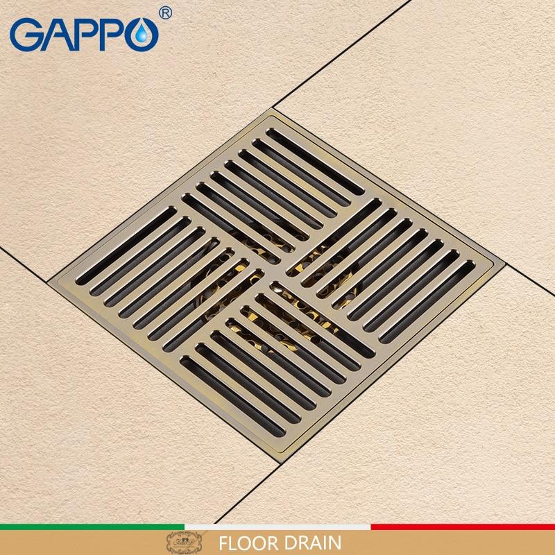 GAPPO Drains Antique Brass waste drains Anti-Odor floor grid shower Bathroom water drain strainer Bathroom floor drains cover цена