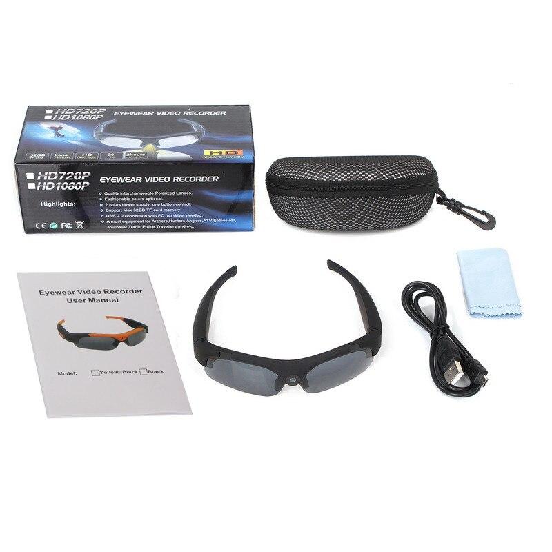 цена на 2PCS/lot 2017 hot sale Original DV Sports Polarized Sunglasses Eyewear Video HD 1080P Camera DVR 120 Degree Recorder Cam Outdoor