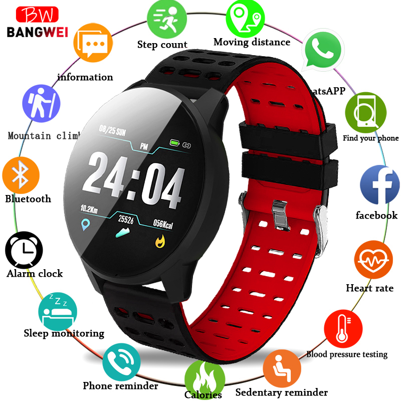 BANGWEI 2019 New Smart health watch Blood Pressure Heart Rate Sport Mode Smart Watch Men Women fitness watch waterproof clockBANGWEI 2019 New Smart health watch Blood Pressure Heart Rate Sport Mode Smart Watch Men Women fitness watch waterproof clock
