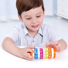 Children Wooden Arithmetic Cylindrical Cubes Digital Cognition Baby Teaching Aids Kids Math Toys 3Y+ Christmas Gift