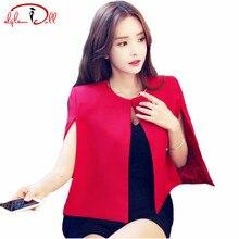 Осень 2017 г. Для женщин с круглым вырезом короткие пиджаки Кепки краткое офисные блейзер пальто 3 цвета