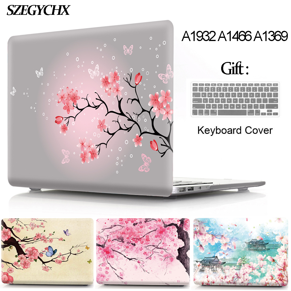 Cherry Blossoms Laptop Case For Macbook Air Pro Retina 11 12 13 15 13.3 Touch Bar For Mac Book New Air 13 A1932 2018 Hard Shell