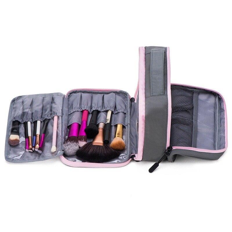 BAGSMART Wanita Besar Tahan Air Makeup Tas Pria Nilon Travel Tas Kosmetik  Organizer Kasus Keperluan Make b9c2defe57