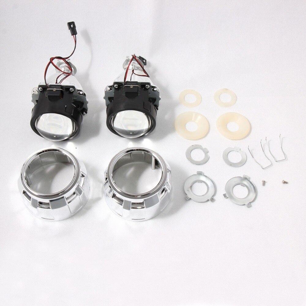 2.5 Pouces Universel Bi xenon HID Objectif Du Projecteur H1 Xenon led Ampoule Pour H4 H7 Moto Phare De Voiture