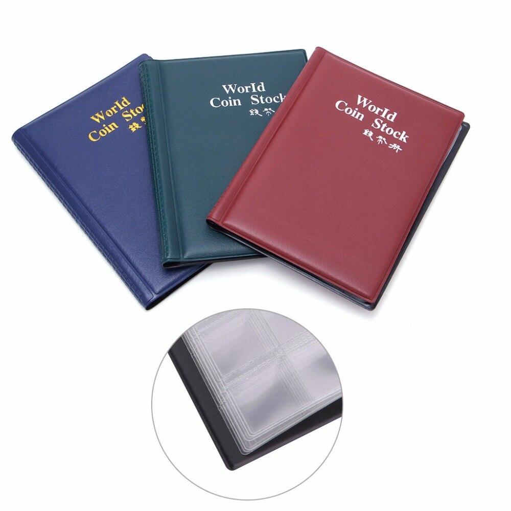 120 Suportes Da Moeda Coleção Armazenamento Dinheiro Penny Pockets Album Livro Coleta