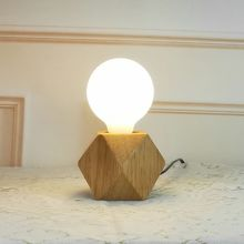 Modern Table LED Lamp Nordic Style Night Light Wooden Base For Bedroom Hotel Office