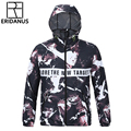 Men Waterproof Jacket 2016 Autumn Fashion 3D Printed Jackets New Casual Hooded Male Thin Breathable Zipper Windbreaker M380