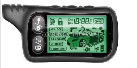 2-way LCD Télécommande Clé Fob, Tamarack Pour Deux voies Système D'alarme de Voiture Tomahawk TZ-9030/Russe Tomahawk TZ 9030 TZ9030
