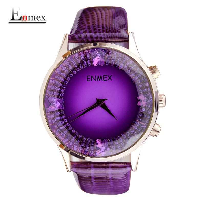 Prix pour 2017 dames de cadeau enmex femmes magnifique pierre montre-bracelet brille avec un éblouissant mode quartz lady montres