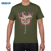 Gildan diyスタイルメンズtシャツ2017ファッションブランドコットンtシャツ古い学校原子ガレージピンアップ米国車ホットロッドv8 tシャ
