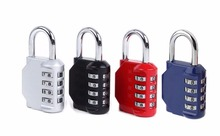 12pcs/lot! 4 Dial Digit Password Lock Combination Suitcase Luggage Code Password Lock Padlock rarelock black 3 dial password universal combination gun trigger protecting safety lock f