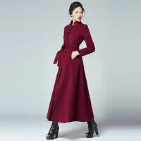 Casacos Femininos 2018 Winter Coat Women Long Cashmere Female overcoat Fashion greatcoat S XXXL