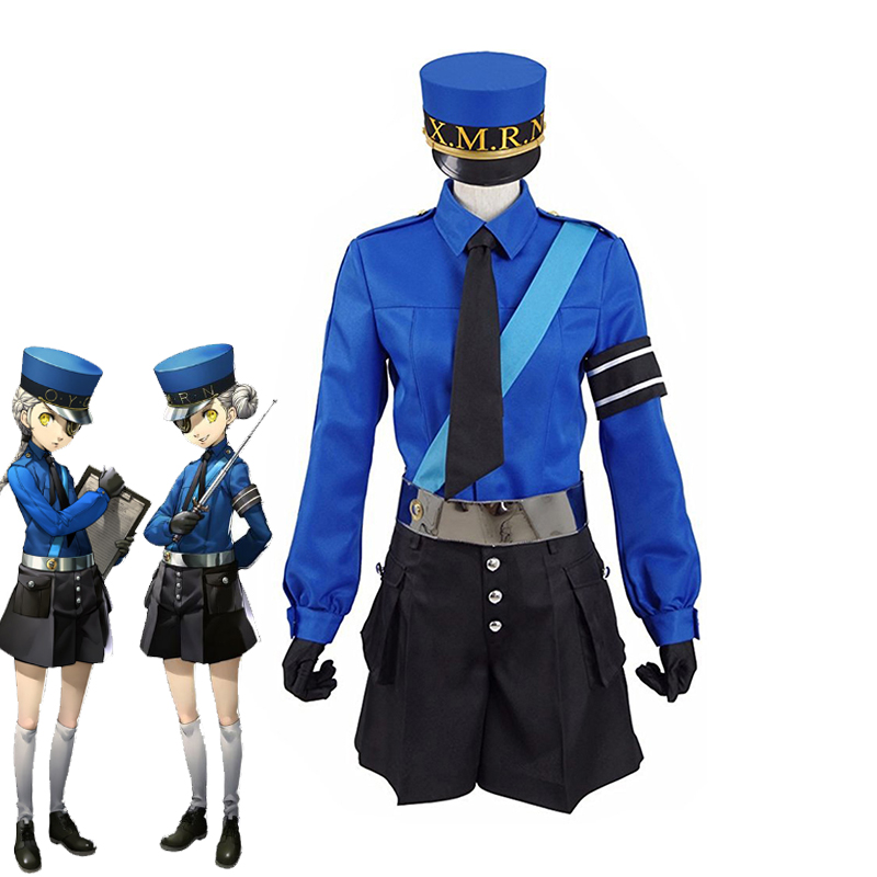 Persona 5 Twin Prison Wardens Caroline and Justine Cosplay Costume Unisex Adult Outfits Halloween Carnival Uniform