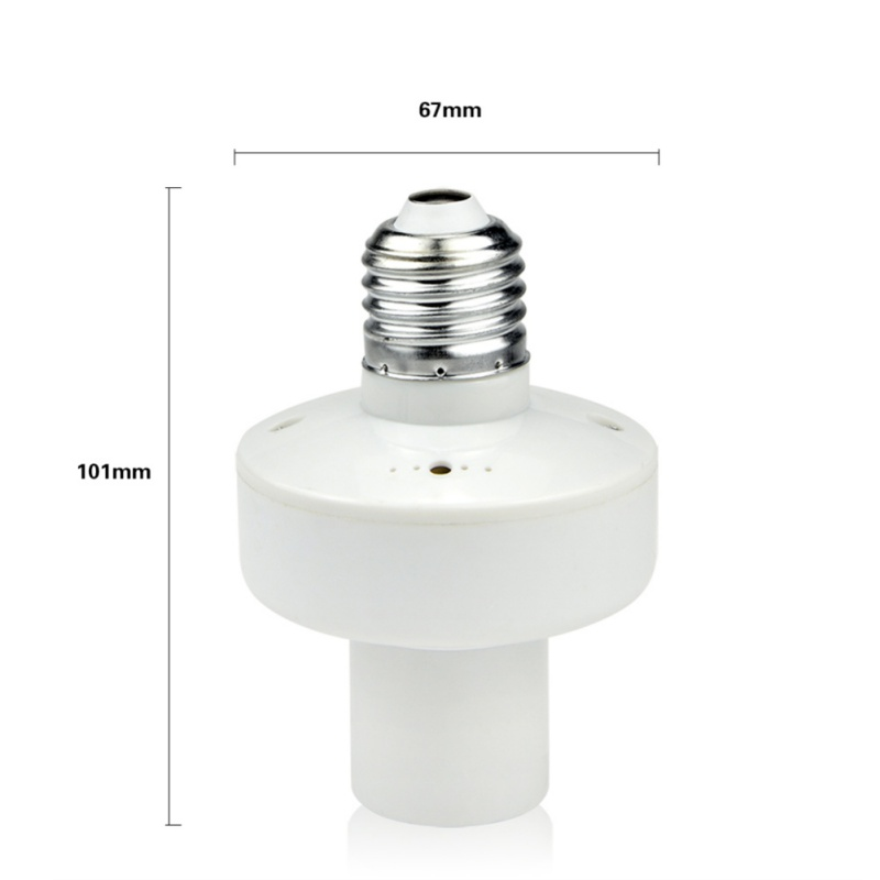 1 Pcs High Quality Durable E27 Screw Led Bulbs Base Holder With Wireless Remote Control Switch Bulb Socket